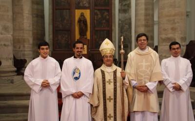 Ordenações e Instituições – ordem presbiteral ao diácono Gaspar Pimentel